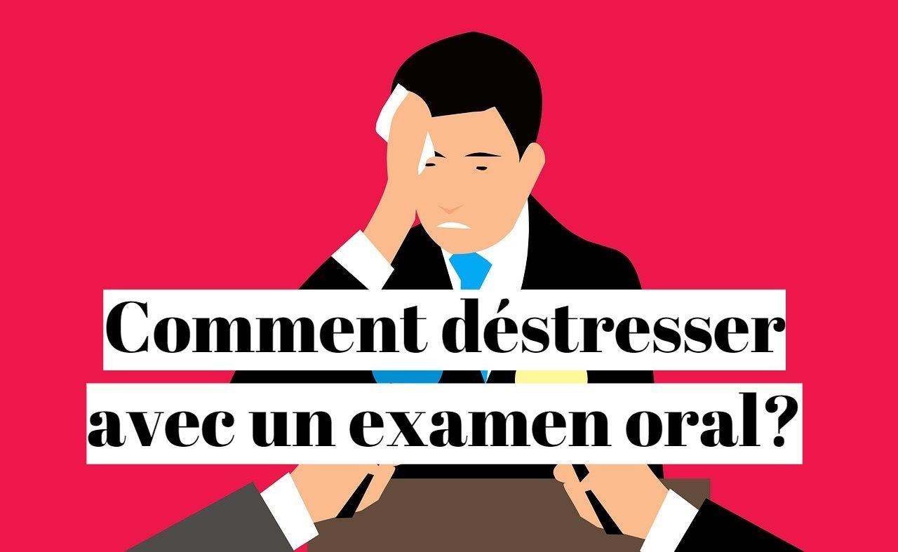 Evacuer le stress avant un examen oral